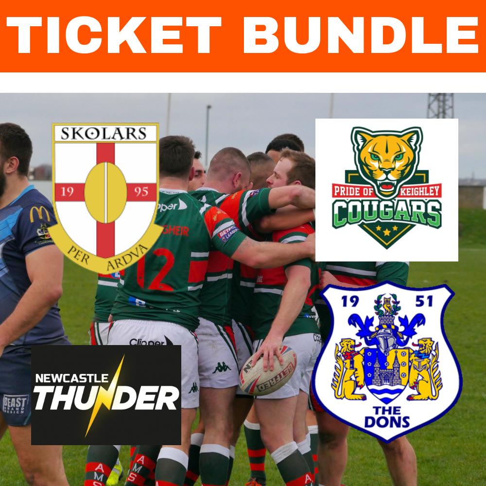 Ticket Bundle- Four Betfred League 1 matches