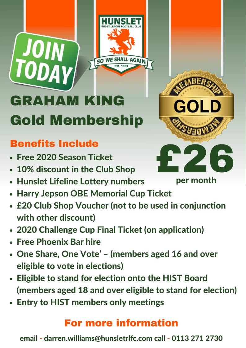 Graham King - Gold membership