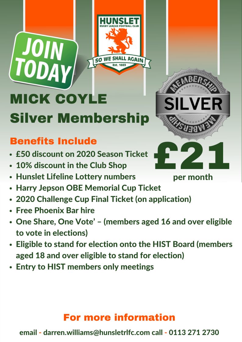 Mick Coyle - Silver membership