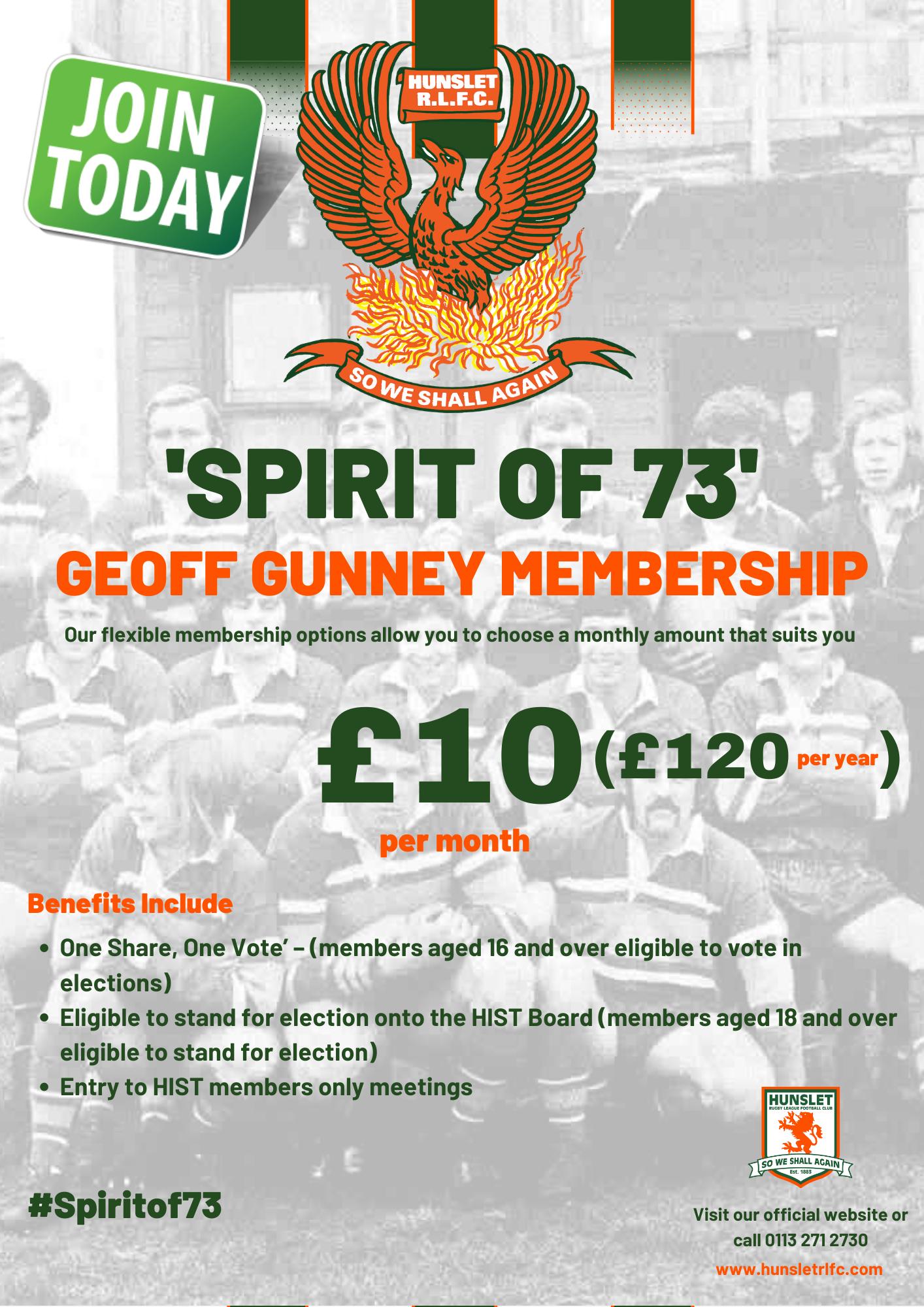 Spirit of 73 - Geoff Gunney £10